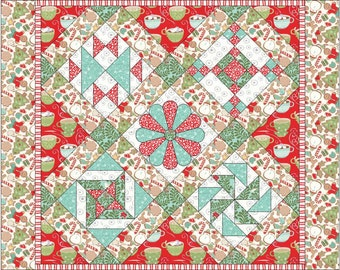 Sampler Quilt Pattern, Wall hanging Pattern, lap quilt pattern, PDF Quilt Pattern,  DIY Quilt, Quiltsy Destash Party, Quilt Pattern