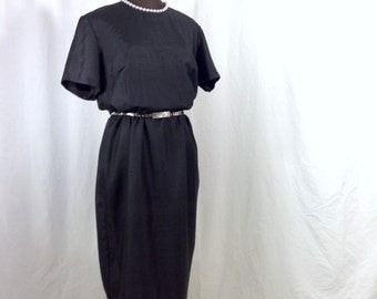 vintage 1960s little black dress by Brentshire