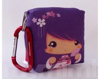 Toy Keychain, Girls Pillow, Geisha Pillow, Purple Pillow, Kawaii Pillow, Kawaii Toy, Soft Toy, Kawaii Print, Japanese