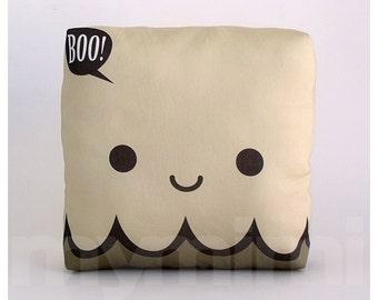 "Halloween Ghost Pillow, Decorative Pillow, Mini Pillow, Childrens Pillow, Ghost Decor, Halloween Decoration, 7 x 7"""