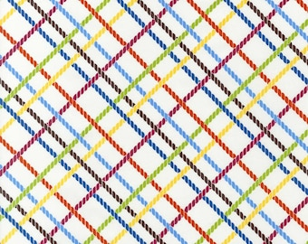Stitch Organic Crisscross in Garden - One yard