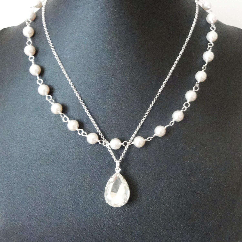 pearl bridal necklace vintage bridal jewelry pearl wedding