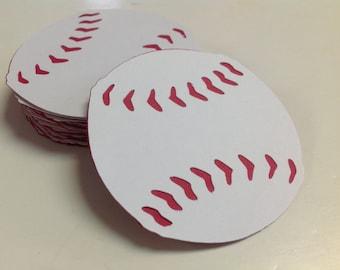 Baseball Die Cuts 3 inch 30 pieces