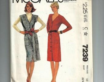 McCall's Misses' Dress or Jumper Pattern 7239