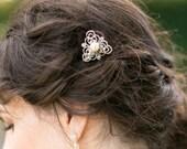 Vintage Style Hair Clip, Ivory Pearl Hair Slide, Eve