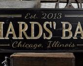 Bar Sign, Custom Bar Sign, Personalized Bar Sign, Bar Sign for Home, Wooden Bar Sign, Home Bar Decor - Rustic Wooden Custom Sign ENS1000475