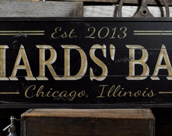 bar sign custom bar sign personalized bar sign bar sign for home - Custom Signs For Home Decor