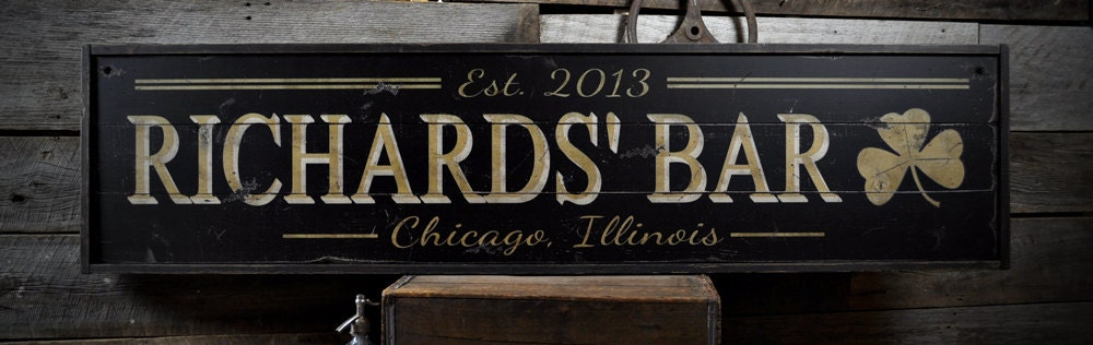 Wood Bar Sign | Etsy