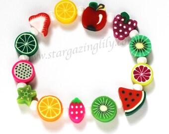 Tutti Fruity Summer Fun Bracelet Infant thru Adult Sizes Hypoallergenic.