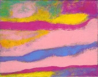 SALE Louisiana  - Original Abstract Art Painting Wall Decor -  Betty Refour