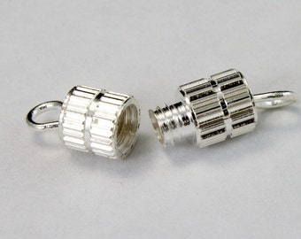 17mm Silver Barrel Clasp #CLB004