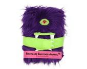 Nightmare Snatcher children's monster dream journal, furry purple monster book Hugmitten
