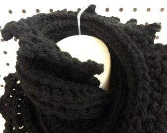 Cowl Scarf Crochet Pattern,  Crochet Scarf Pattern,  Infinity Scarf Pattern Crochet Cowl Pattern,  Lauren Cowl Scarf,  Chunky Wool Scarf