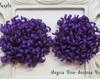 Petite PURPLE Korker Hair Bow Set, set of 2, korkers, hair bows for girls,Halloween, toddler girl, birthday bows, international shipping