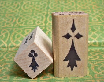 L'Hermine Rubber Stamp Set Heraldic Symbol of Brittany, France