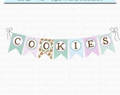 PRINTABLE Cookie Banner by BitsyCreations Instant Download