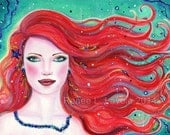 ACEO print Airlea mermaid  By Renee L. Lavoie