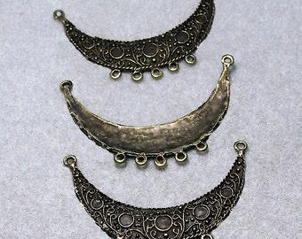 Crescent Moon II- bead hanger- pendant