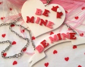 BE MINE Banner or Heart necklace
