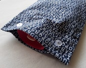 NEW Color, Navy Alphabet Flannel Hot Water Bottle Cover