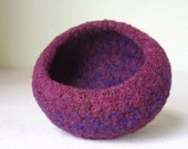 Bowl - Felted Wool in PlumBerry