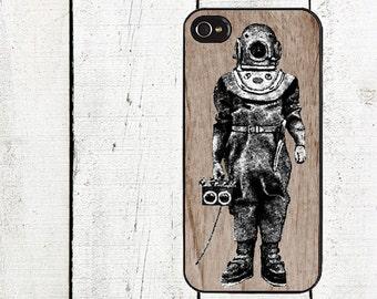 Vintage Diver Phone Case for  iPhone 4 4s 5 5s 5c SE 6 6s 7  6 6s 7 Plus Galaxy s4 s5 s6 s7 Edge