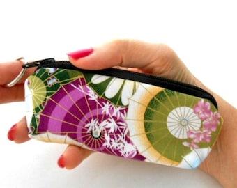 Mini Key Chain Zipper Pouch ECO Friendly Padded Lip Balm Case NEW Plum Mariko