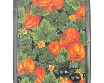 Pumpkin Harvest Magnet Board, Magnet Magnetic Bulletin Board, 8x11 Magnetic Message Board, Autumn Fall Decor,  Kitchen Decor