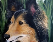 Custom Pet Portrait Hand Painted 8x10 Pet Paintings Artist Sharon Lamb