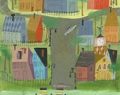 Summer in New England.  Limited edition 11x14 print by Matte Stephens.