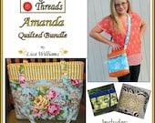 INSTANT DOWNLOAD: Amanda Quilted Bundle - diy Tutorial pdf eBook Pattern - 3 Sizes Purse, 3 Sizes Tote