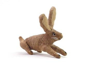 Spun Cotton Vintage Inspired Brown Bunny Rabbit