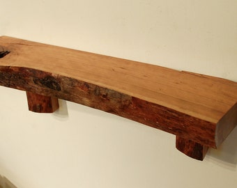 No. 27 - Thick Cherry Live Edge Shelf