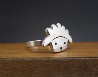 Sterling Silver Sheep Ring - Lamb Ring