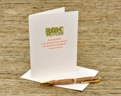Go forth boldly in the direction of your dreams - Thoreau quote - letterpress card