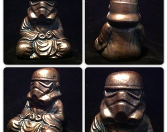 Bronze  Zen Trooper Custom Buddha stormtrooper original  Sculpt and cast