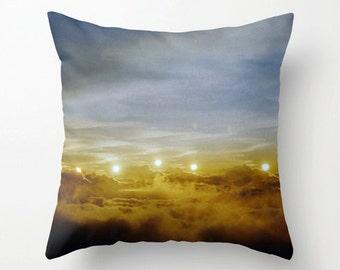 photo pillow cover decorative pillow photography throw pillow cover zen decor. art pillow case. surreal sunset sky hawaii art nursery decor.