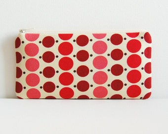 Zipper Pouch, Coin Purse, Pencil Case, Women and Teens, Berry Dots, Denyse Schmidt, County Fair