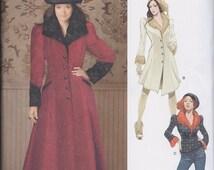 Simplicity 1732 Misses Victorian Steampunk Goth Coat Jacket UNCUT
