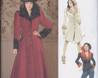 Simplicity 1732 Misses Victorian Steampunk Goth Coat Jacket UNCUT Sewing Pattern