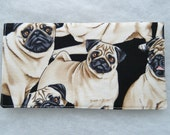 Checkbook Cover - PUGS