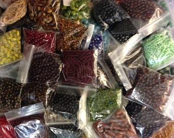 Bulk Mix of Czech Glass Beads - RANDOM Mystery Lot - (B700) (1/2 pound)