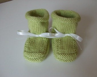 Handknit Baby Booties and Why I Made Them  - Green