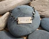custom personalized soul mantra bracelet . rectangle