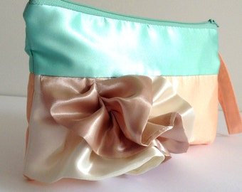 Pastel Colors Curve Ruffled Clutch