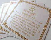 Great Gatsby Inspired Welcome Gift Tags