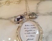 Jane Austen Necklace Where Shall we See a Better Daughter