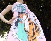 Jasmine Tiger Dress Pink Turquoise Disney Geek Cruise Resort Mom Party Sundress S M L XXL Adult Raja Aladdin Sundress