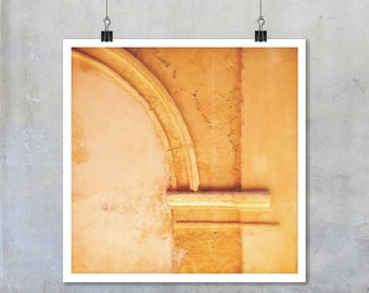 Architectural Photography - Stone arch old wall France fine art photograph print poster French home decor travel photography Aix-en-Provence