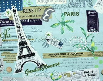 Suzuko Koseki, Paris Eiffel Tower Fashion Colorway B Japanese Fabric  - Half Yard